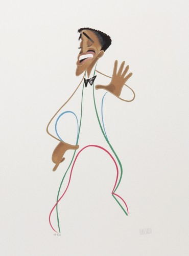 Sammy Davis, Jr. (Broadway With Sammy) PP by Al Hirschfeld