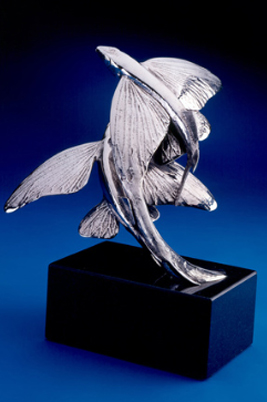 Flying Fish Stainless Steel Sculpture