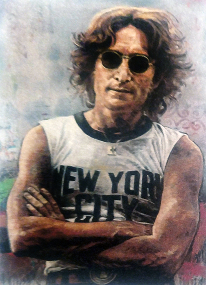 John Lennon New York 2011 Embellished