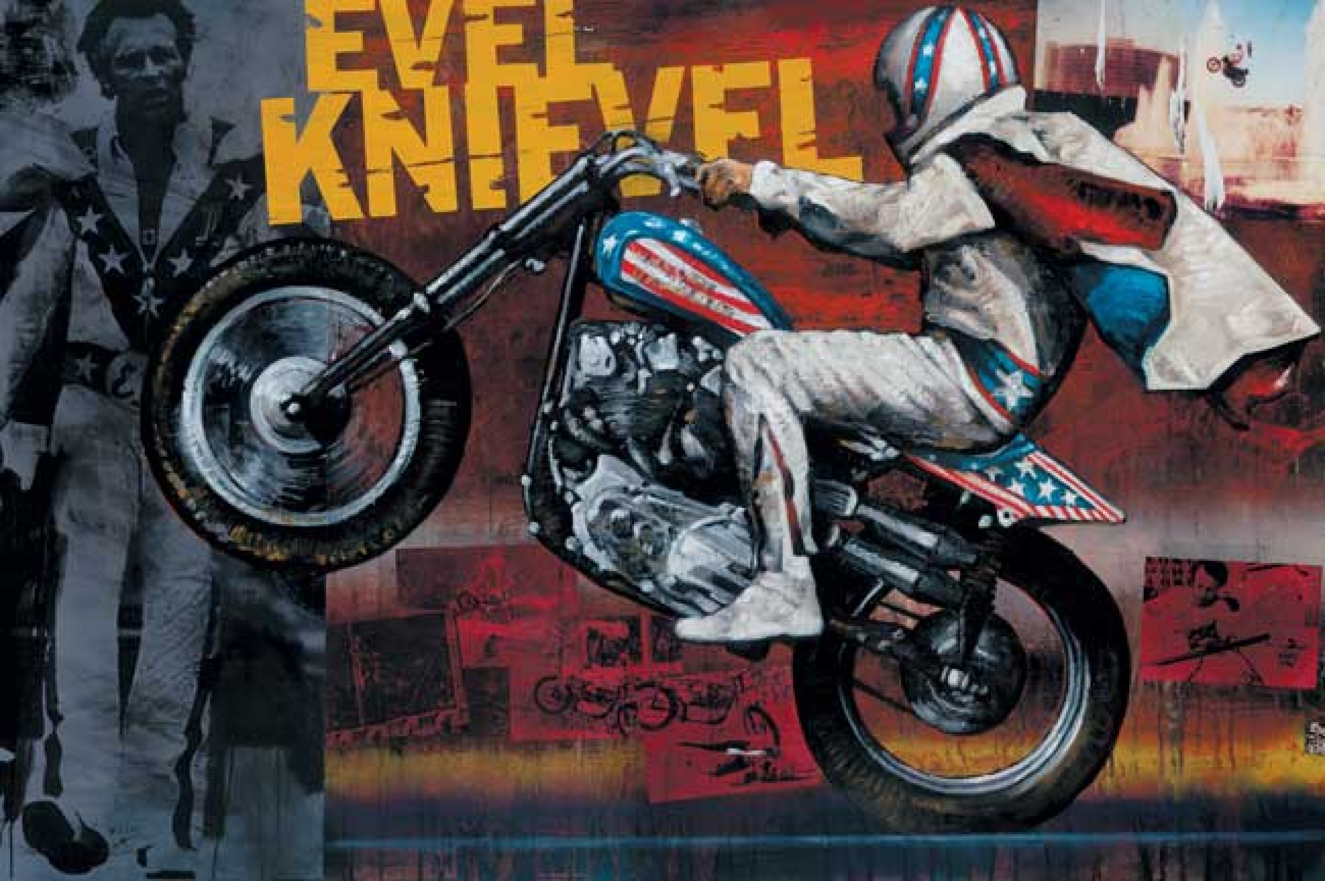 Evel Knievel Stratocycle Up For Auction: Stephen Holland Art For Sale