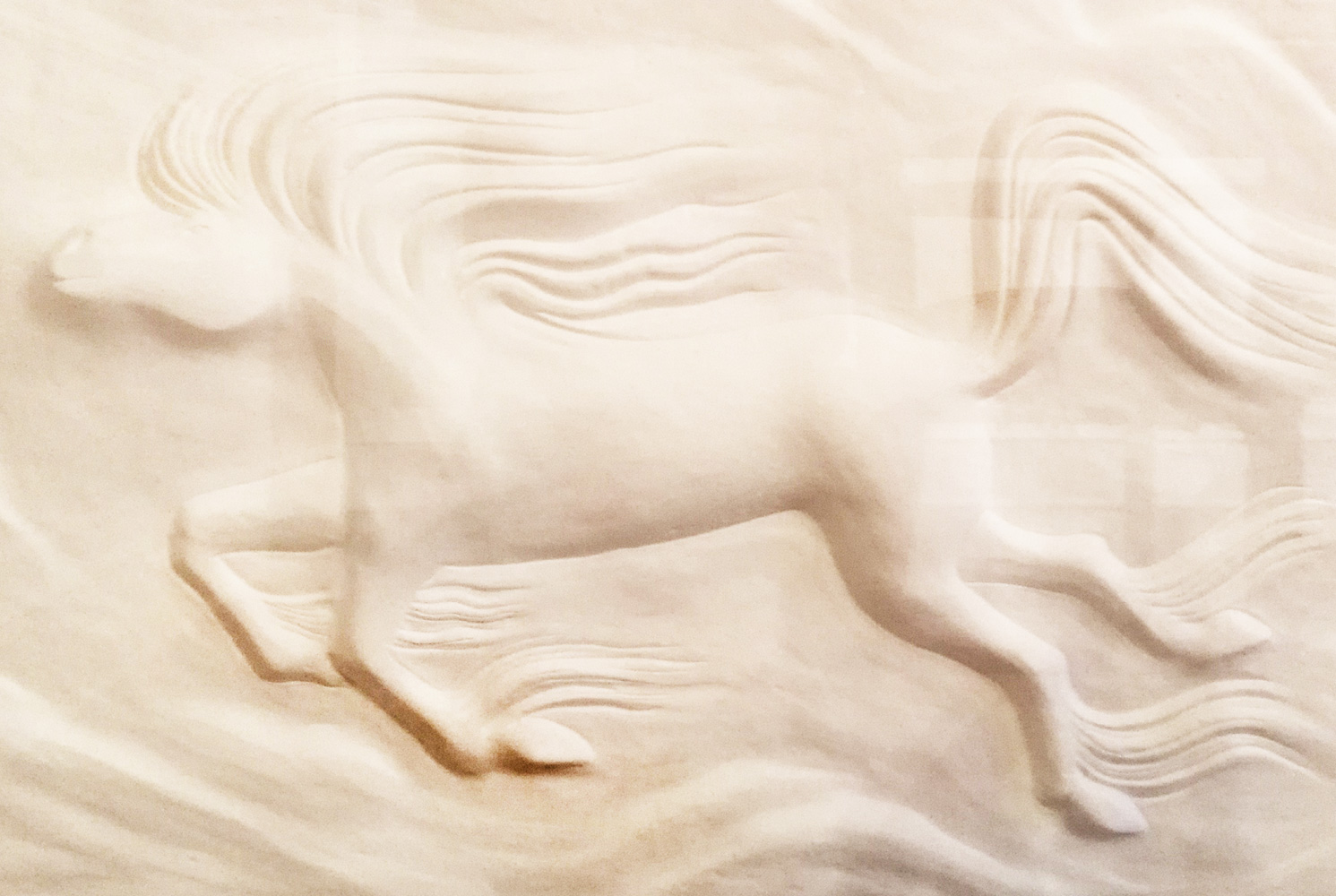 Horse Cast Paper Sculpture  43x58
