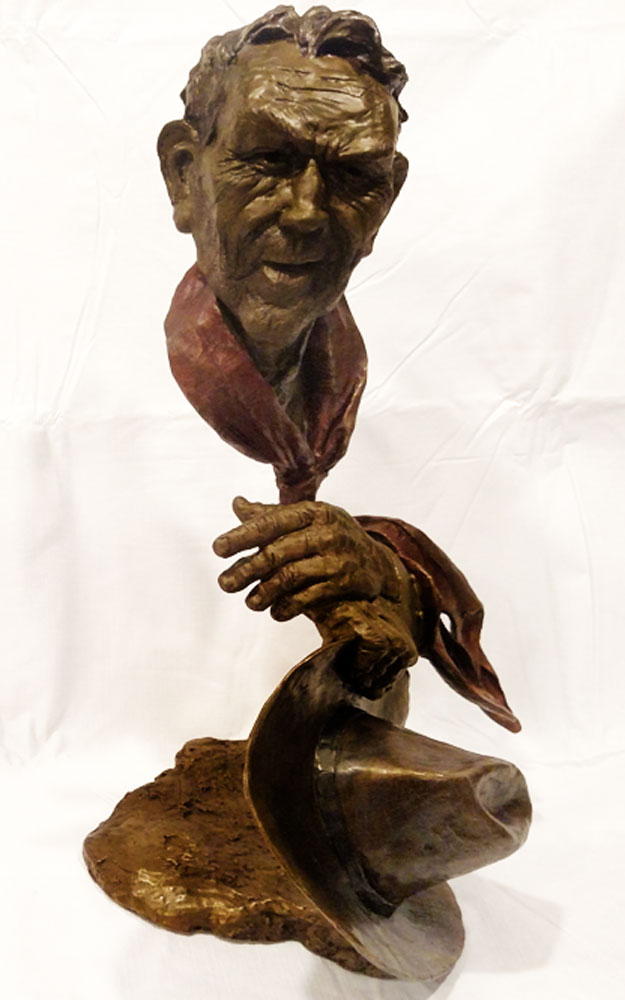 Day's Work Bronze Sculpture 20 in