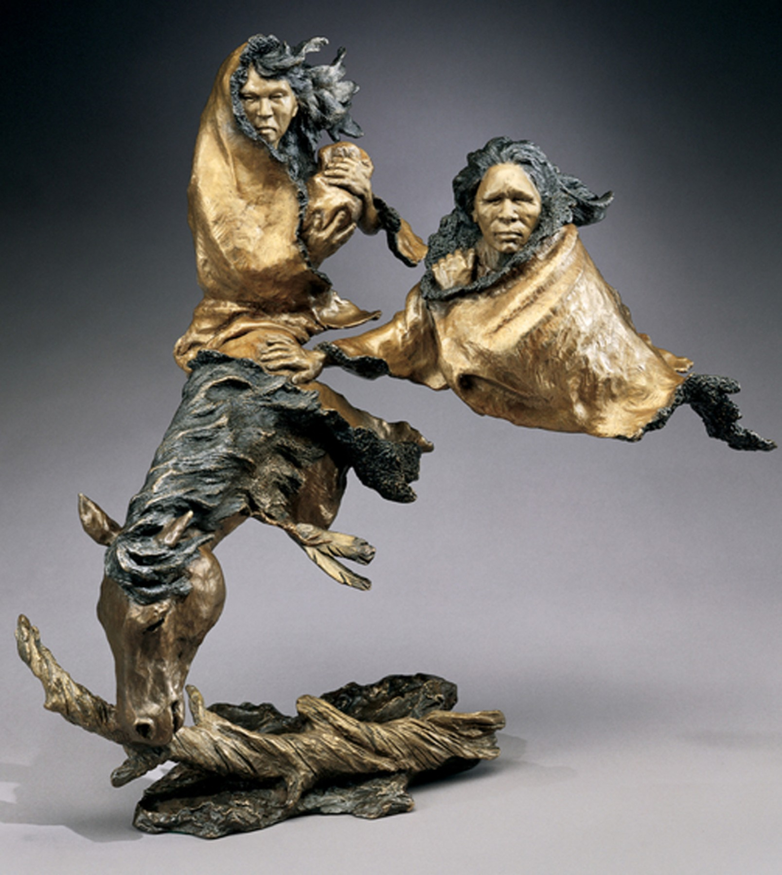 In Search of Peace Bronze Sculpture 1996 19 in
