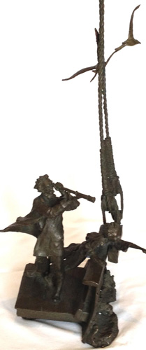 Land Ho Bronze Sculpture 1990 by Mark Hopkins