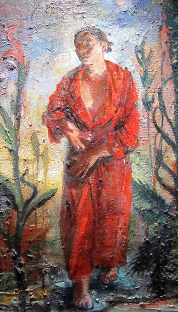 Somnambulist (Red Robe) 2003 40x22