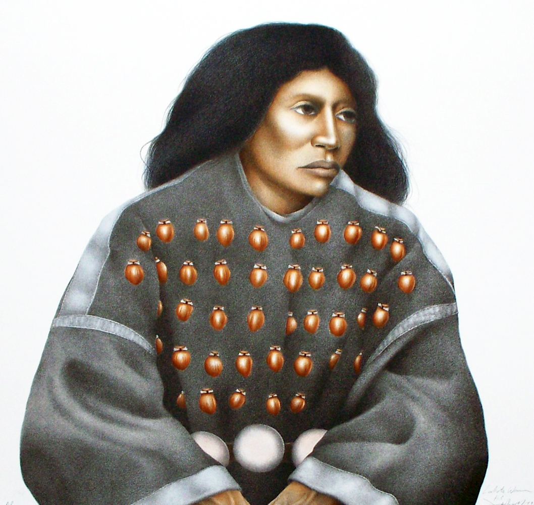 Lakota Woman (Hand Colored) AP 1992
