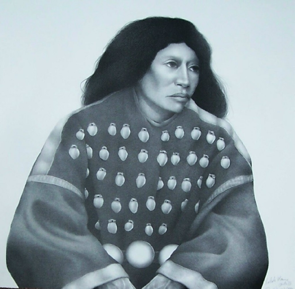 Lakota Woman II (Black And White) AP 1992