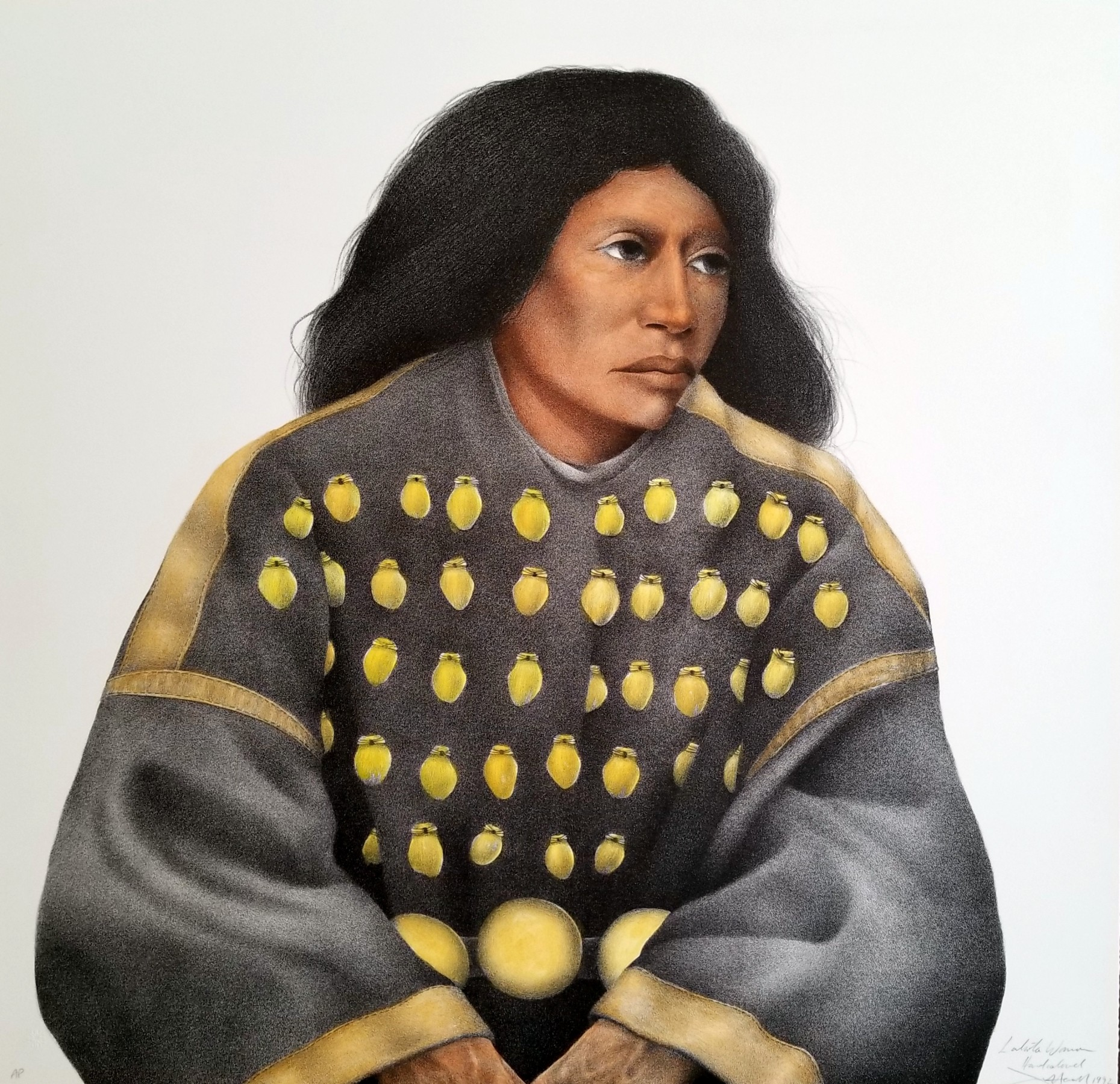 Lakota Woman (Hand Colored) AP 1992 by Frank Howell