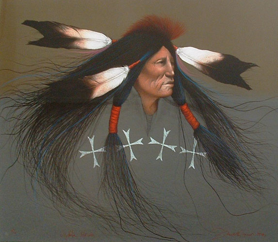 Oglala Warrior 1991 by Frank Howell
