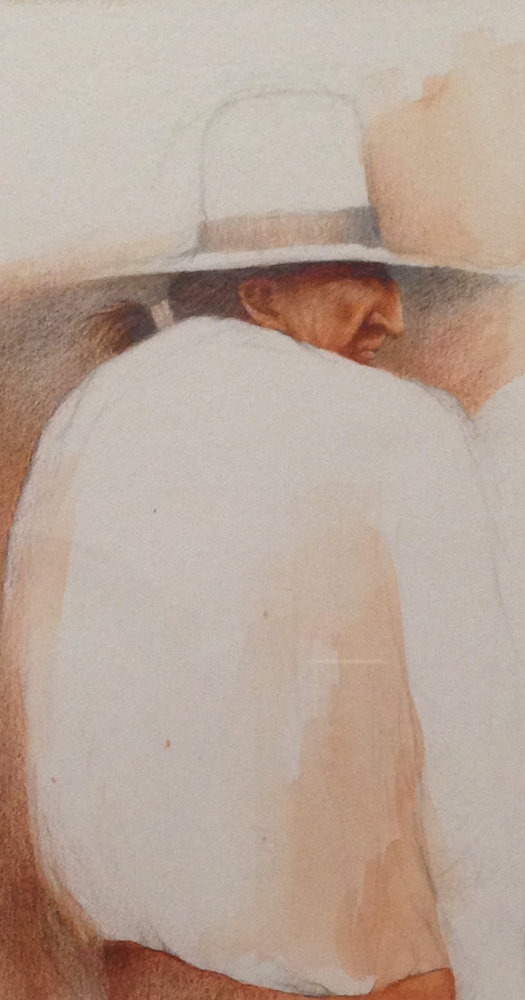 Untiltled Navajo Study Watercolor 1975 16x13
