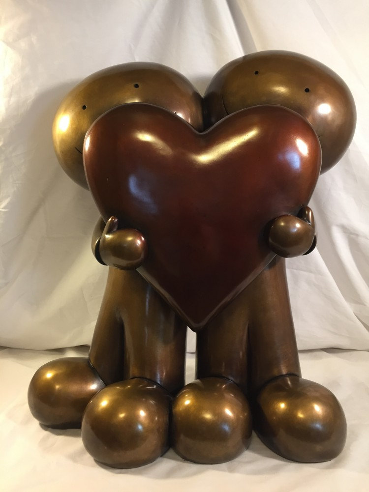 I Love You This Much Bronze Sculpture 2000 18 in