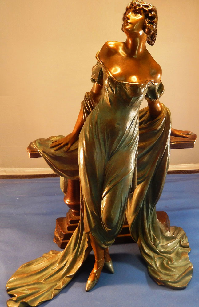 Werther Bronze Sculpture  1986 15 in