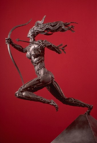 Sweet Huntress Stainless Steel  Sculpture 1996 30 in