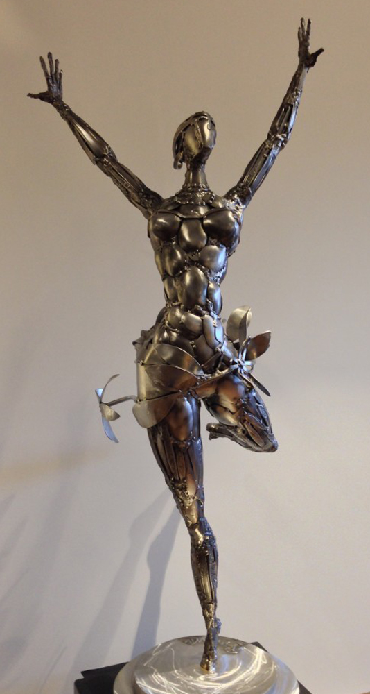 Ballerina No. 2 Stainless Original Steel Sculpture 44 in