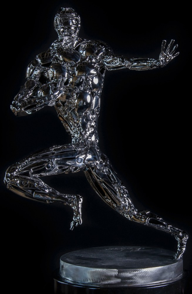 Pursuit of Excellence Stainless Steel Sculpture 2014 25 in