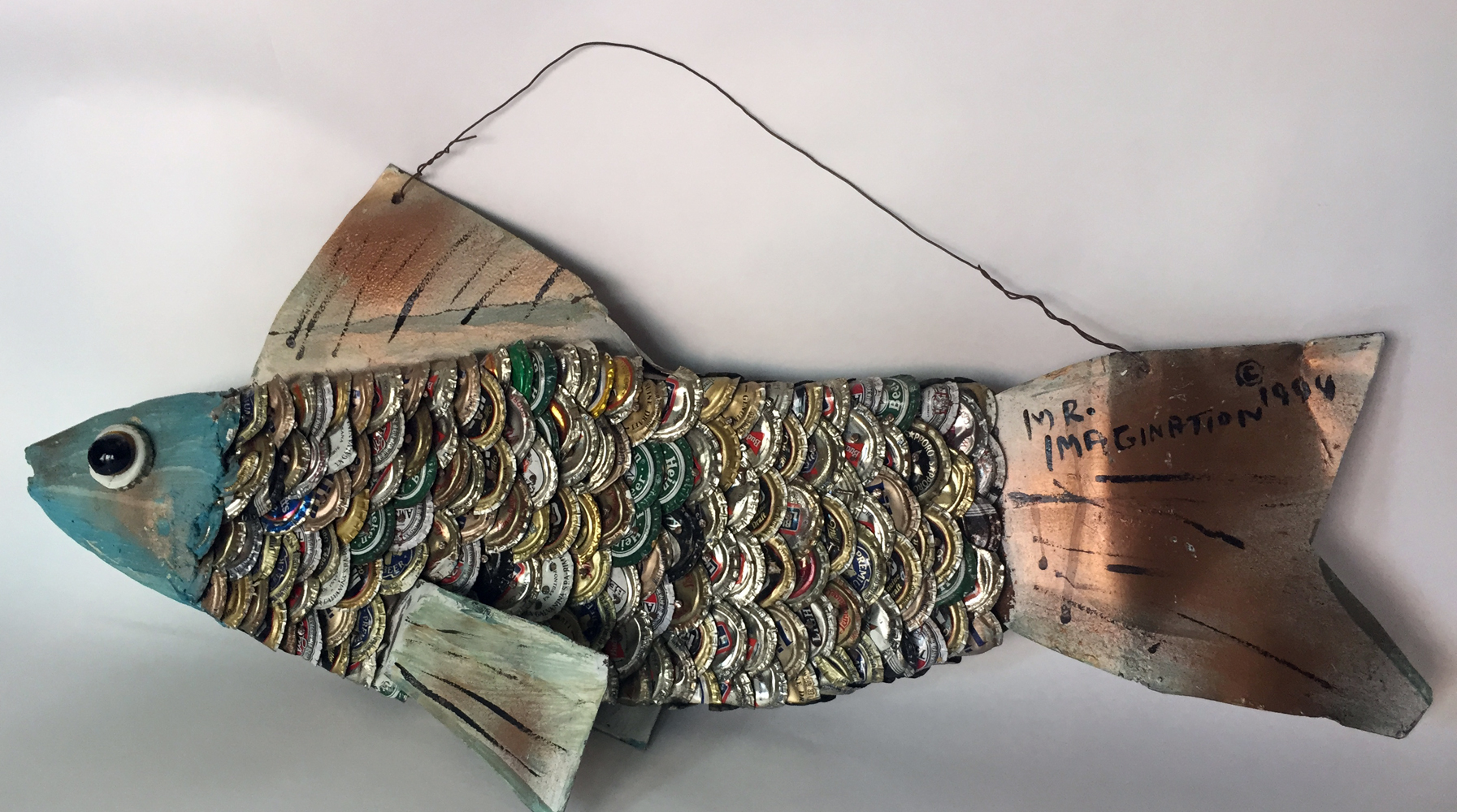 Bottlecap Fish Sculpture 1994 23 in