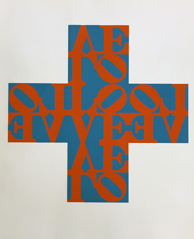 Love Cross 1968 by Robert Indiana