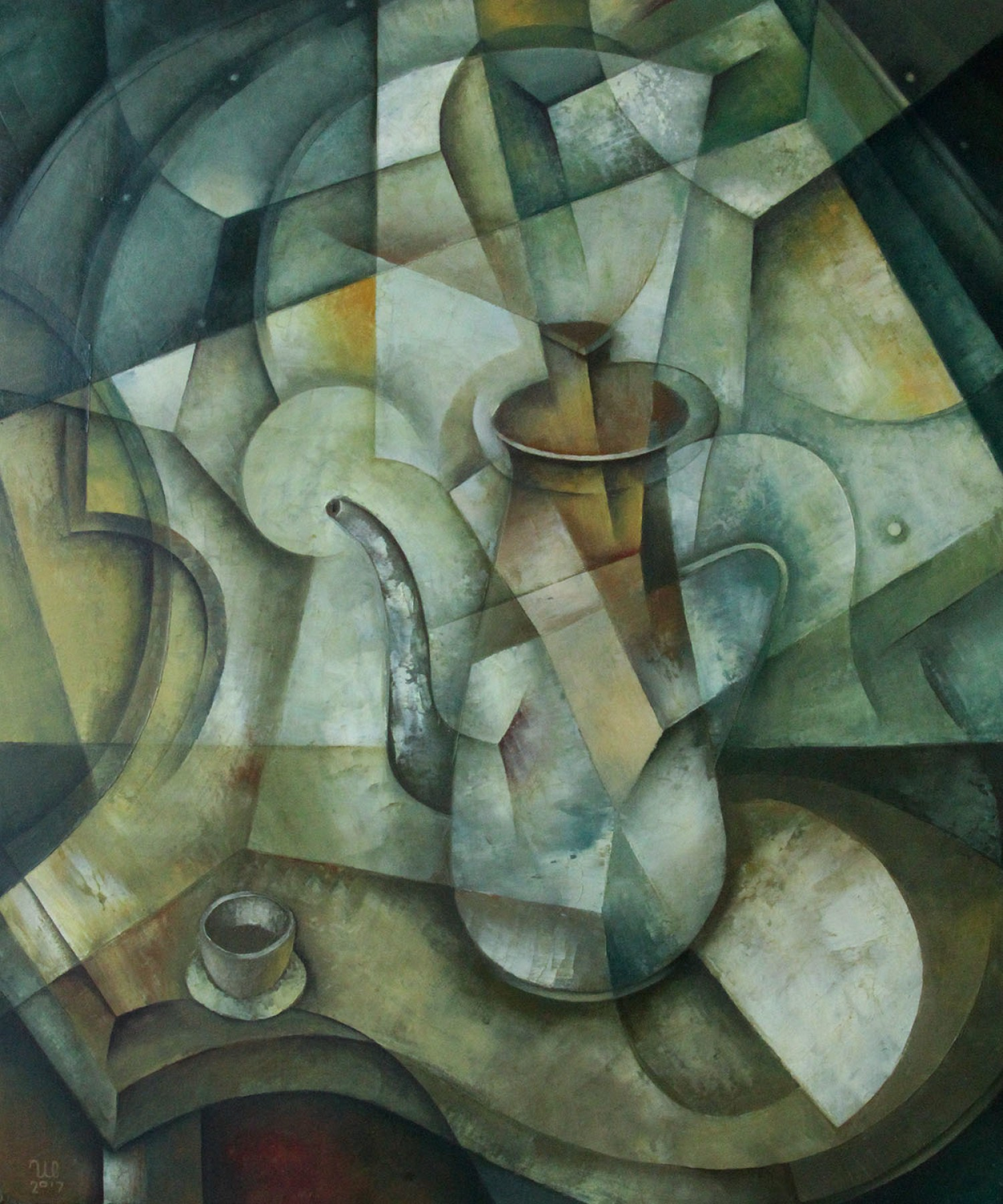 Still Life With Coffee Pot 2018 23x19