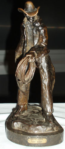 Ground Roper Bronze Sculpture 1983