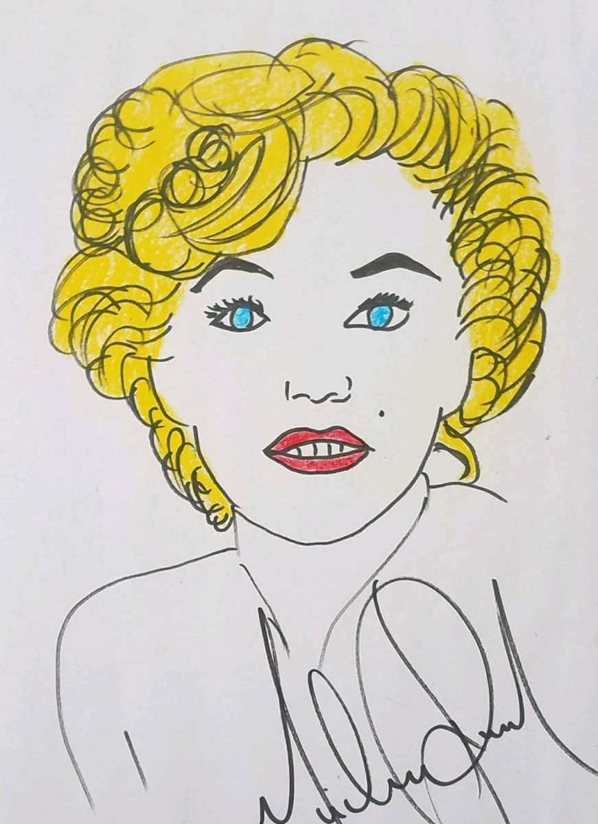 Marilyn Drawing 2002 16x12