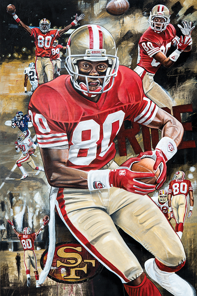 Jerry Rice Golden Rice 2016 25x35