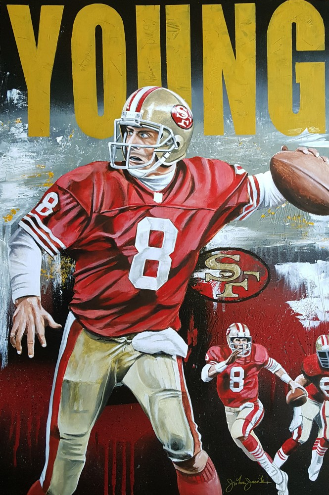Steve Young on the Run 2016 35x25