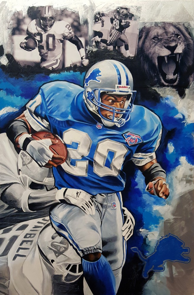 Barry Sanders, Lion's on the Loose 2016 25x35