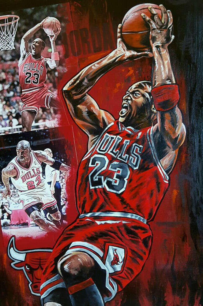 Clutch Shot 2016 35x25 Michael Jordan