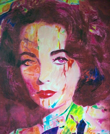 Orange Liz (Elizabeth Taylor) 2007 37x28