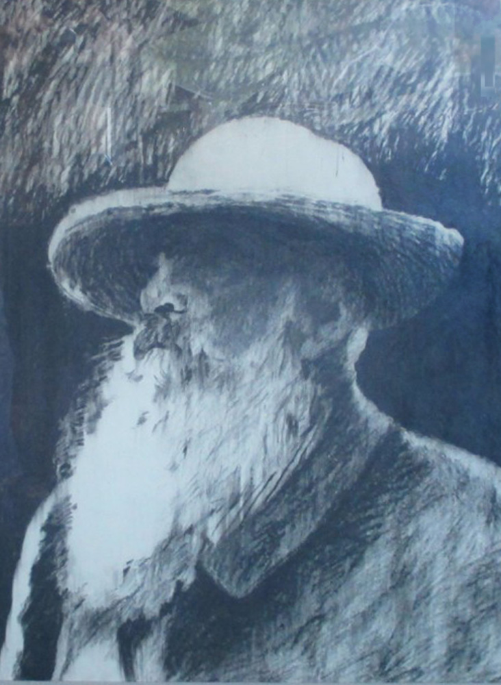 Monet Drawing 1980 32x27 (Early Work)