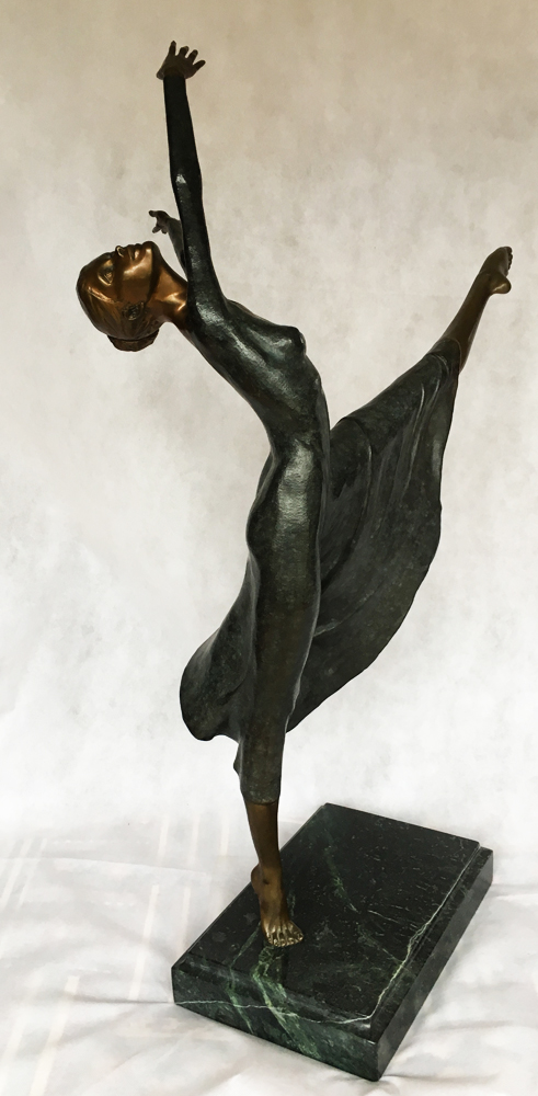 Julie Bronze Sculpture 1989 33 in