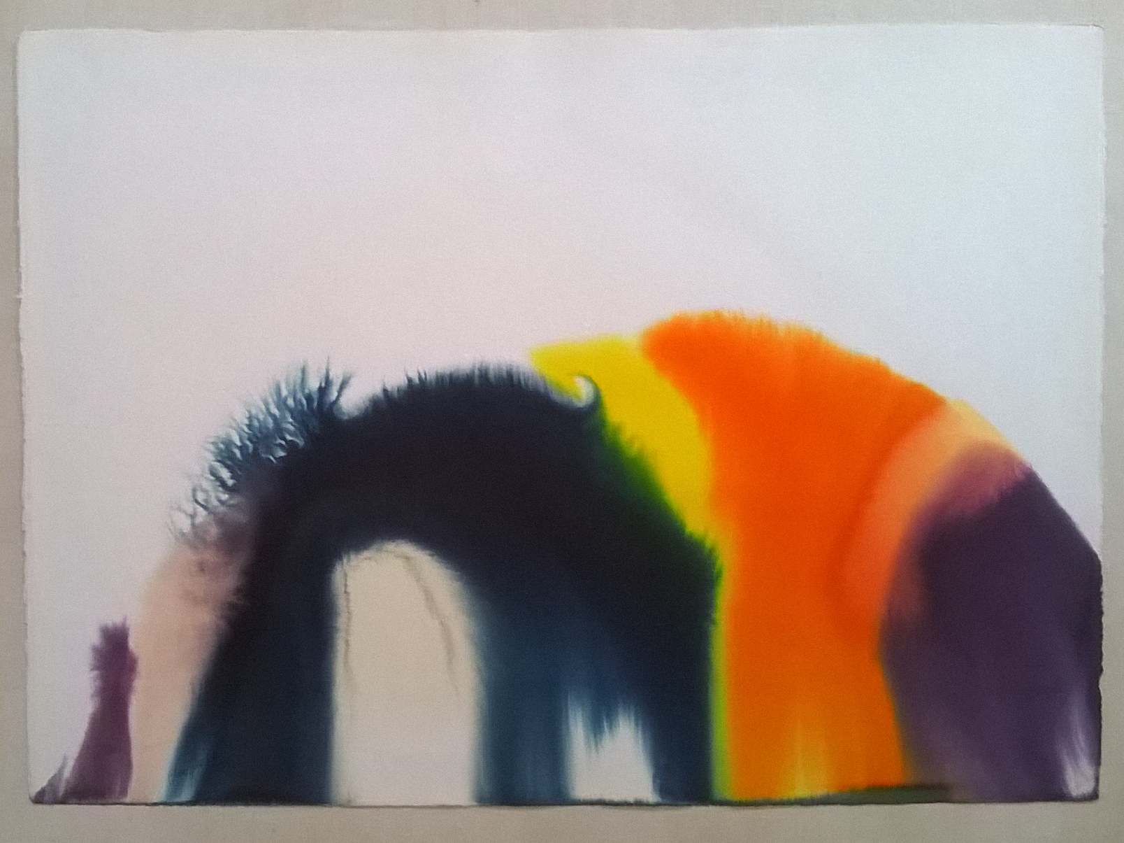 Phenomena Spectrum Bend Watercolor 1977 30x40