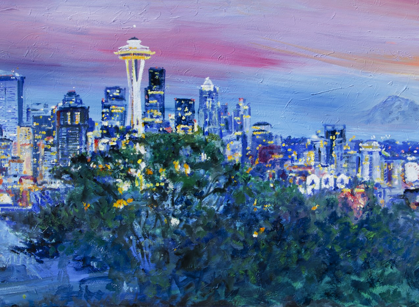 Seattle Sunset 2014 20x55