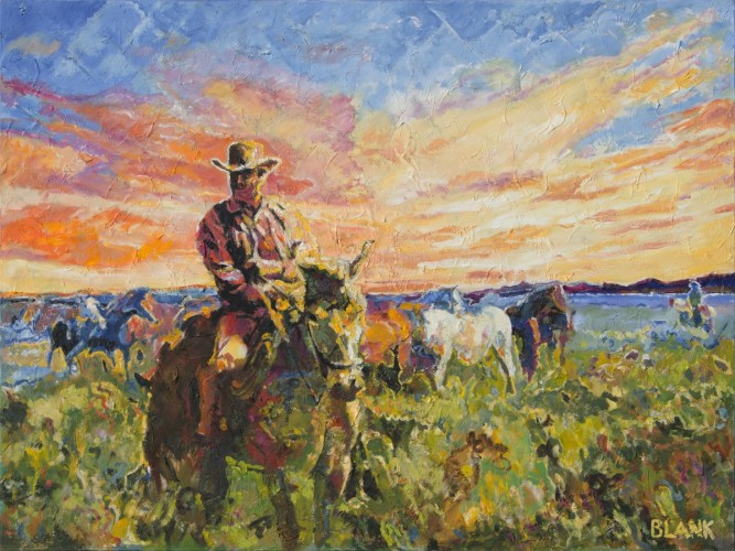Marshall Dillon With Horses 2014 30x40