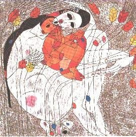 Mother And Child 1985 by Tie-Feng Jiang