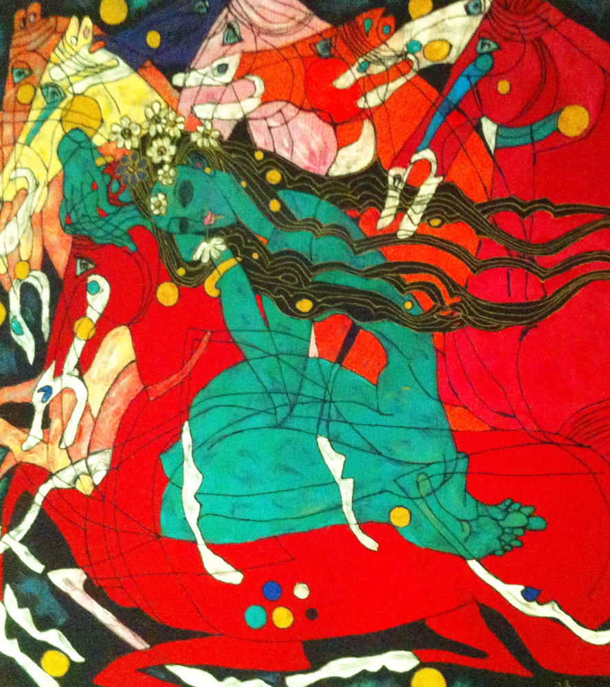 Emerald Lady Tapestry 1991 65x65