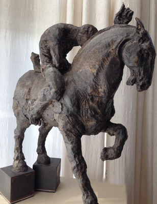 Caballito No. 3 Bronze Sculpture 2000 26x24