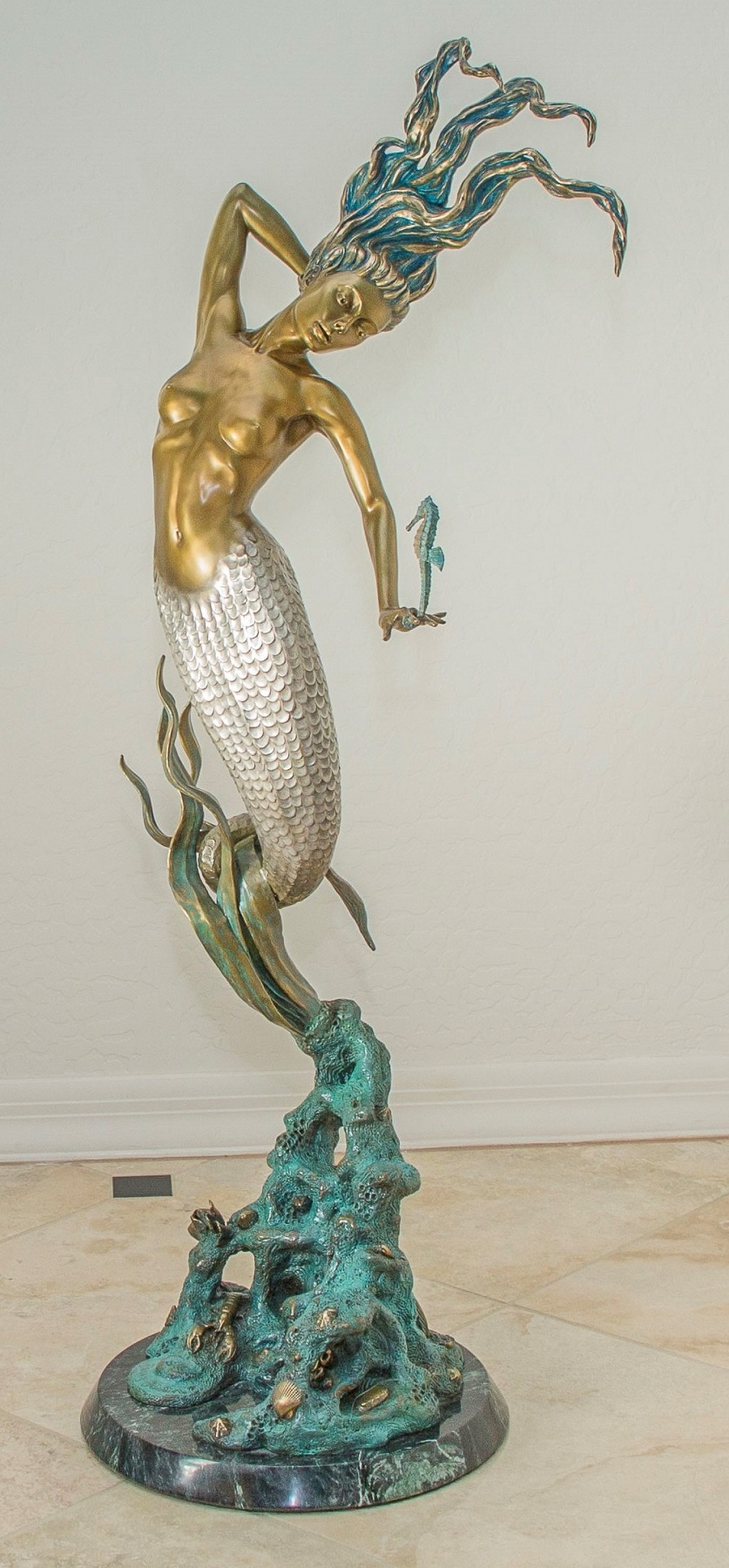 Wonders of the Deep Bronze Sculpture 39 in