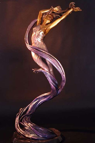 Spin Drift Bronze Sculpture 34 in