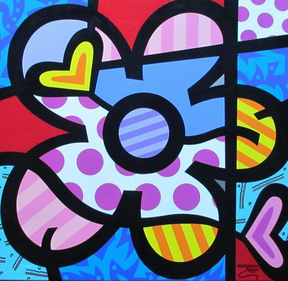 A Flower From the Heart 32x34