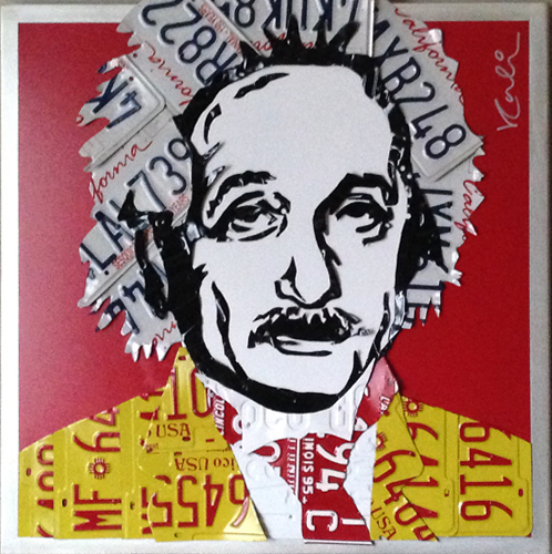 Einstein Unique Aluminum Wall Sculpture 32x32