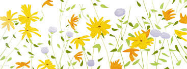 Summer Flowers Silkscreen on Canvas 2018 42x111 by Alex Katz