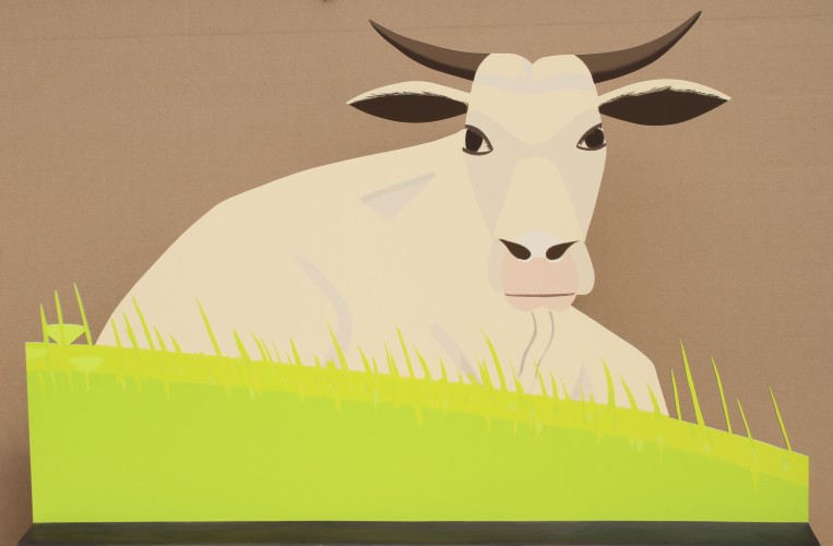 Maine Cow Sculpture 73x49 by Alex Katz