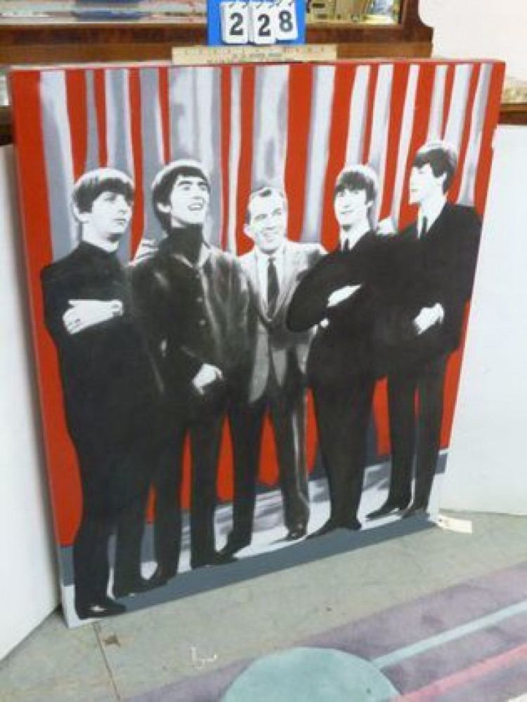 Beatles and Ed Sullivan Unique 1964  45x38
