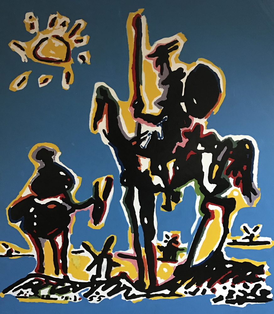 Homage to Picasso - Don Quixote Unique 2008 46x42