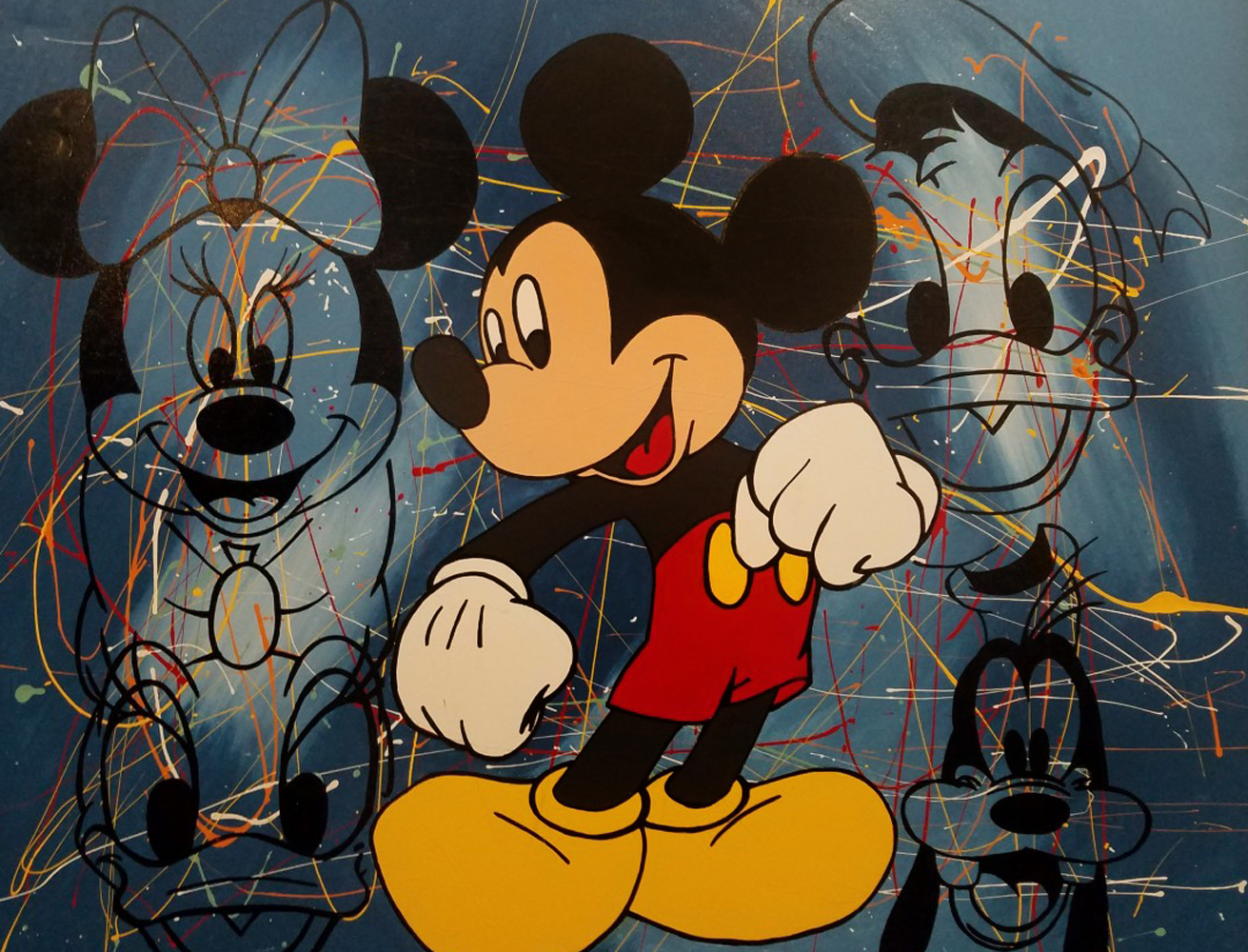 Mickey Mouse And Friends Embellished 47x37