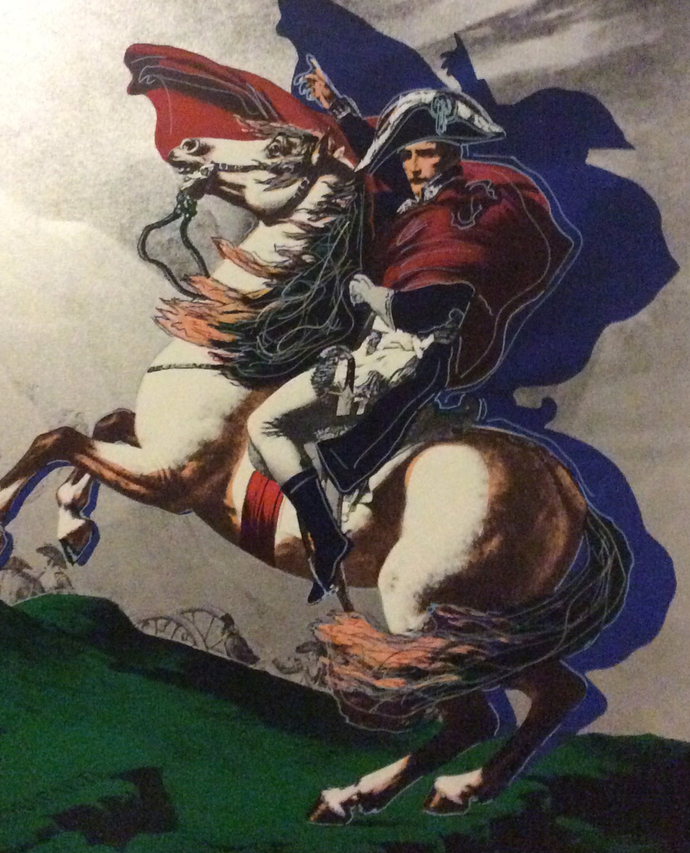 Silver Napoleon on Horse 1995  Embellished