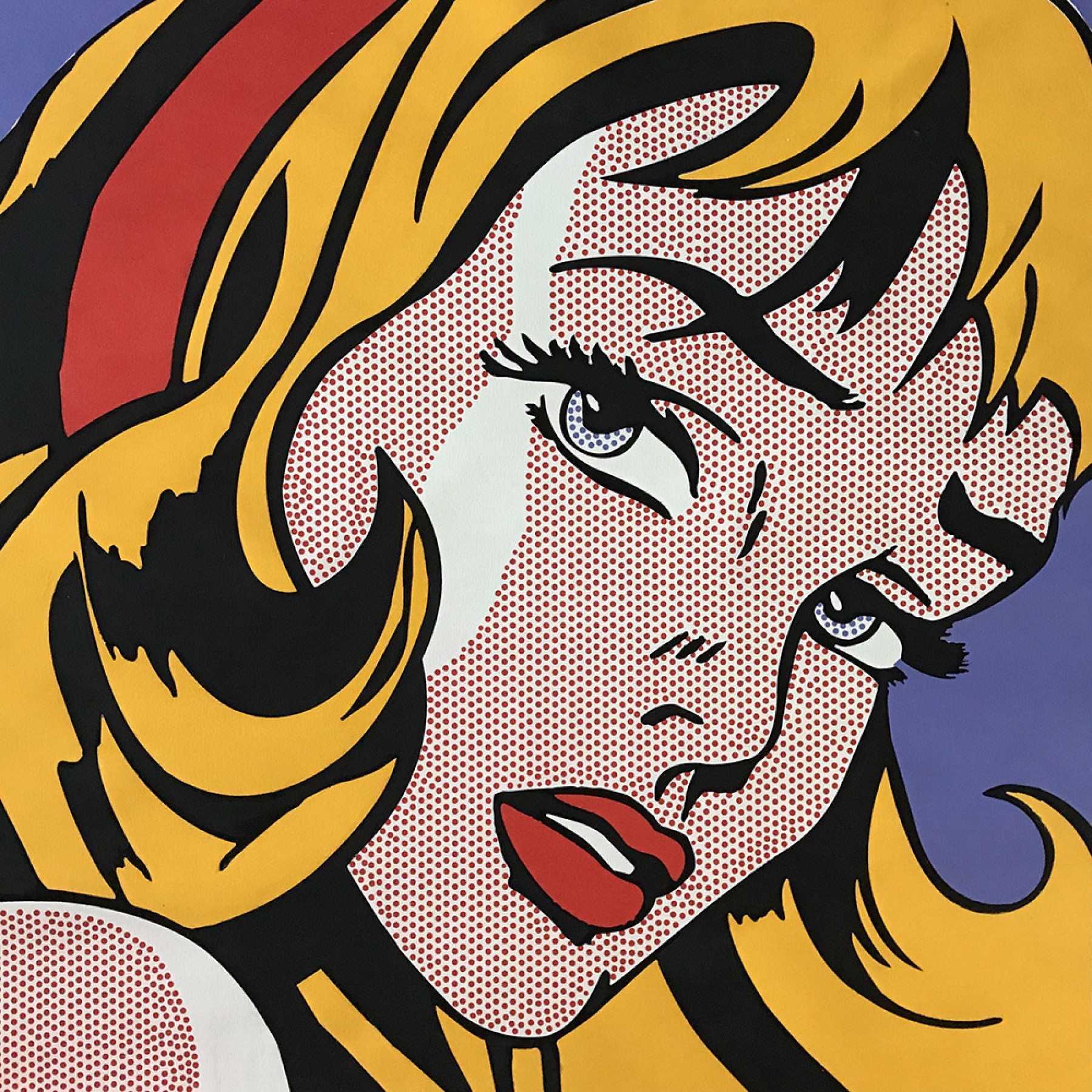 Girl With Ribbon in Hair: Homage to Roy Lichtenstein AP 2008