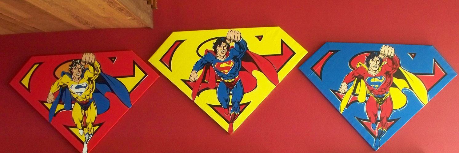 Superman Shield Set of 3 Matching Numbers  2001