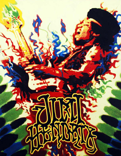 Jimi Hendrix Woodstock Unique 2004 47x38
